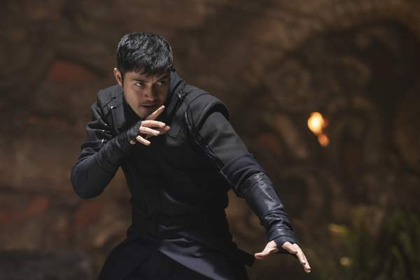 This image released by Paramount Pictures shows Henry Golding in a scene from Snake Eyes: G.I. Joe Origins. (Niko Tavernise/Paramount Pictures via AP)