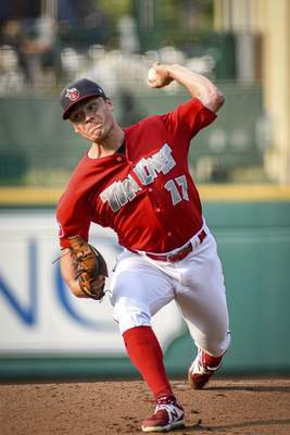 Mike Moore   The Journal Gazette TinCaps pitcher Erik Sabrowski delivers a pitch in the first inning Saturday against Dayton.