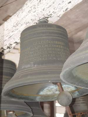 Courtesy photos The iconic chime bells at Manchester University are coming down next month for a restoration project.