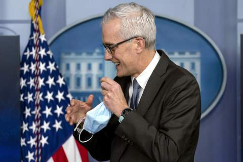 Virus Outbreak Health Worker Vaccines FILE - In this March 4, 2021 file photo, Veterans Affairs Secretary Denis McDonough appears during a press briefing at the White House in Washington. The Department of Veterans Affairs on Monday became the first major federal agency to require health care workers to get COVID-19 vaccines. The decision comes as the aggressive delta variant spreads and some communities report troubling increases in hospitalizations among unvaccinated people. (AP Photo/Andrew Harnik) (Andrew Harnik STF)