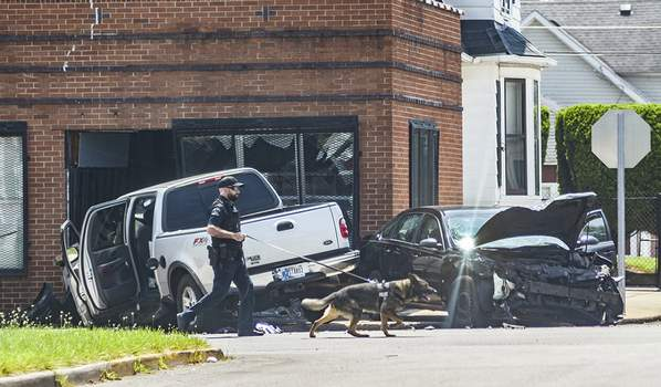 Katie Fyfe   The Journal Gazette Police investigate a two-vehicle crash that occurred Monday afternoon at  East Pontiac and Warsaw streets. No information was available on injuries or details of the crash.