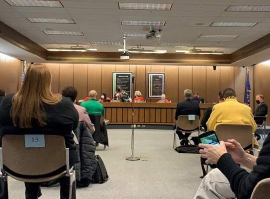 Ashley Sloboda | The Journal Gazette  The Fort Wayne Community Schools board room is pictured earlier this year.