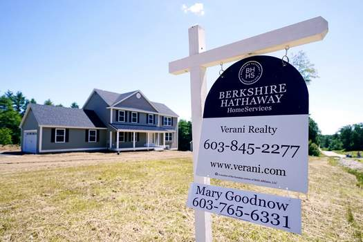 Home Sales A real estate sign is posted in front of a newly constructed single family home, Thursday, June 24, 2021 in Auburn, N.H. (AP Photo/Charles Krupa) (Charles Krupa STF)