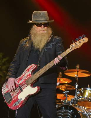 FILE - Dusty Hill of ZZ Top performs during the Stagecoach Festival on April 25, 2015, in Indio, Calif. (Photo by Paul A. Hebert/Invision/AP, File)