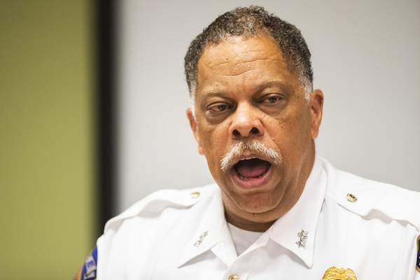 Associated Press IMPD Chief Randal Taylor speaks at a news conference regarding the FedEx shooting Wednesday in Indianapolis.