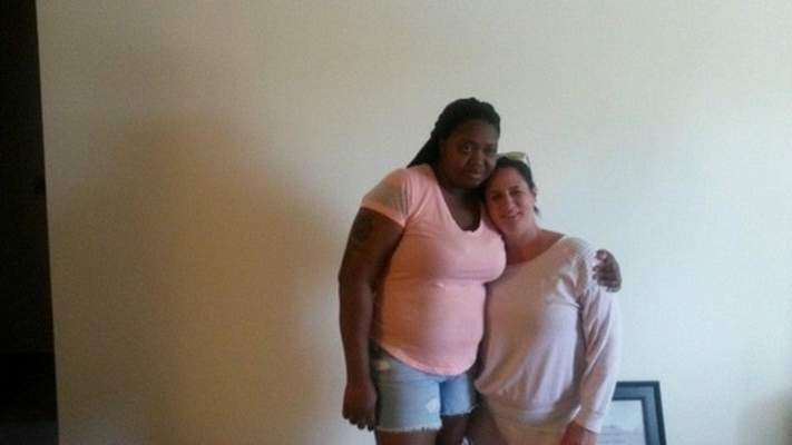 Courtesy    Shana Davis (left) with her sister-in-law, Tracy Webb