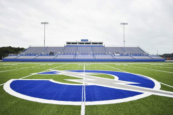Katie Fyfe   The Journal Gazette The new stadium at Carroll High School features 5,000 seats on the home side of the field.