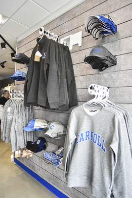 Katie Fyfe   The Journal Gazette  The Charger Gameday Store that will be open during home games and other times to provide Charger gear for students and fans.