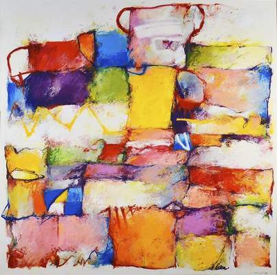 """Abstract work byMichael Poorman is part of the """"Summer Magic"""" exhibit at the Castle Gallery."""