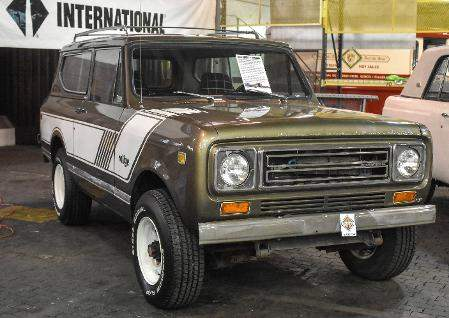 Michelle Davies | The Journal Gazette: A 1979 Scout II Rallye on display at the former International Harvester Engineering complex on Meyer Road. The truck never left the Fort Wayne Trucks Engineering Center, but spent its life filling various roles.
