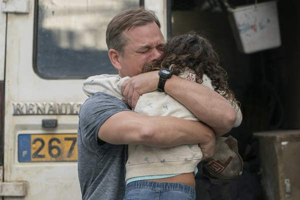 This image released by Focus Features shows Matt Damon, left, and Lilou Siauvaud in a scene from Stillwater. (Jessica Forde/Focus Features via AP)
