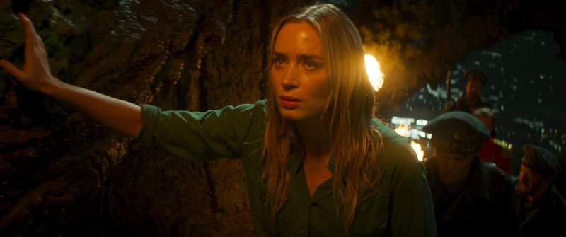 This image released by Disney shows Emily Blunt in a scene from Jungle Cruise. (Disney via AP)