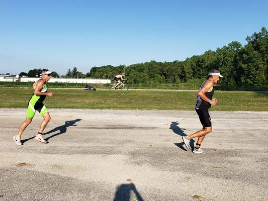 Courtesy photos Lake Clare near Huntington was the site of a triathlon July 11. Andrea Storms, the founder and events director for Live4Love LLC, is working to rebuild the recreation area around Lake Clare.
