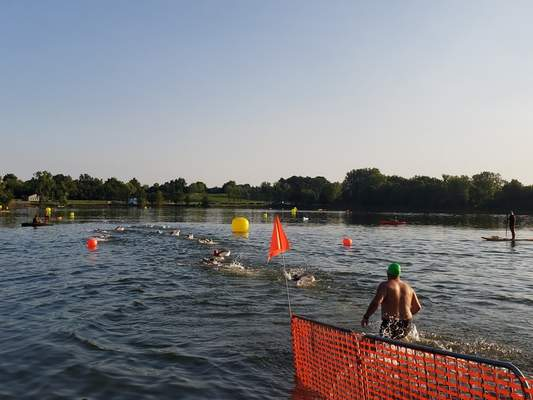 Storms would like to see open swimming competitions return regularly to Lake Clare near Huntington.