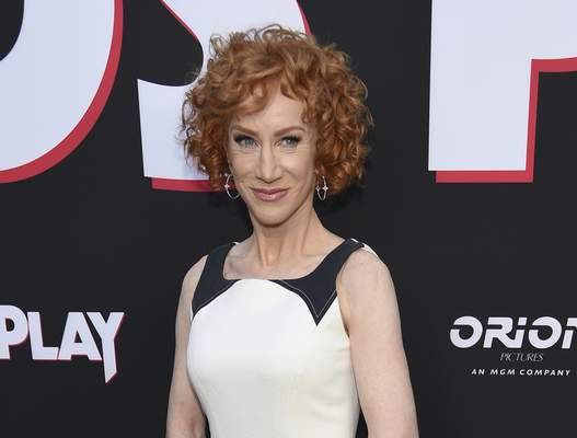 FILE - Comedian Kathy Griffin appears at the premiere of the film Child's Play in Los Angeles on June 19, 2019. (Photo by Chris Pizzello/Invision/AP, File)