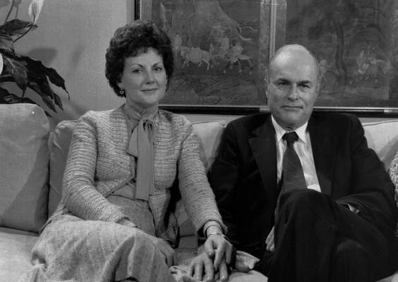 FILE - In this March 31, 1981 file photo, Jack and Jo Ann Hinckley pose together during an interview in New York. (AP Photo/File)