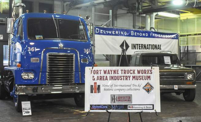 Michelle Davies | The Journal Gazette International Harvester vehicles of various ages on display at the former International Harvester Engineering complex on Meyer Road.