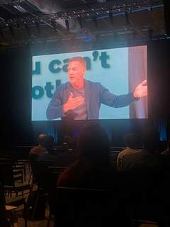 Mega-church pastor and author Craig Groeschel was the opening speaker Thursday for the Global Leadership Summit, which was being viewed via satellite by attendees at Sweetwater Sound and a dozen other Fort Wayne area locations.