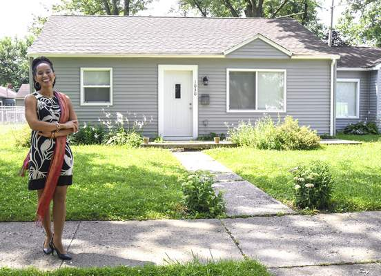 Michelle Davies   The Journal Gazette Réna Bradley uses her background in architecture and social justice in her work with the Bridge of Grace revitalization project in the Mount Vernon Park neighborhood.