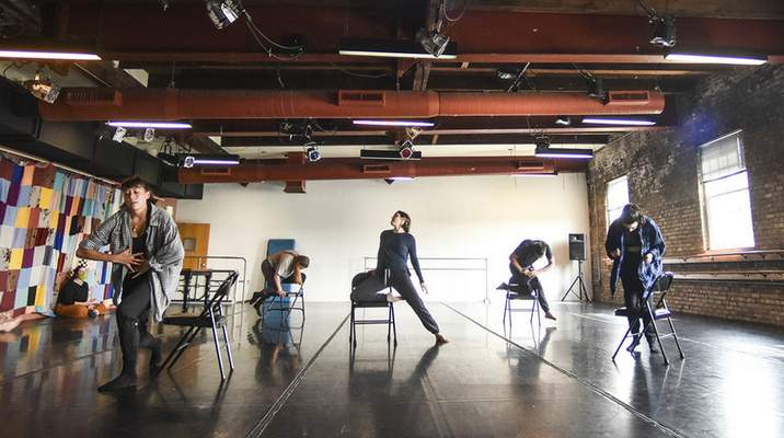 """Photos by Katie Fyfe   The Journal Gazette Dancers rehearse in Fort Wayne Dance Collective's studio for """"Collective Expressions,"""" which will be performed this weekend at Arts United Center. The show features local dancers performing 18 original pieces."""
