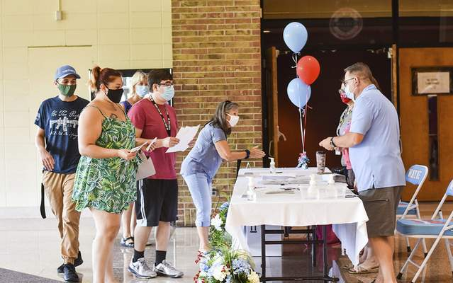 Katie Fyfe | The Journal Gazette  Wayne High School celebrates its 50th anniversary this year with an open house that allows alumni and others who are interested a chance to see the high school as it has been since opening in 1971 before the renovations begin in July on Saturday.