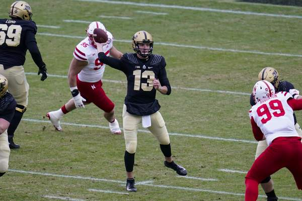 Associated Press  Purdue quarterback Jack Plummer (13) throws against Nebraska during the first quarter of an NCAA college football game in West Lafayette, Ind., Saturday, Dec. 5, 2020. (AP Photo/Michael Conroy)