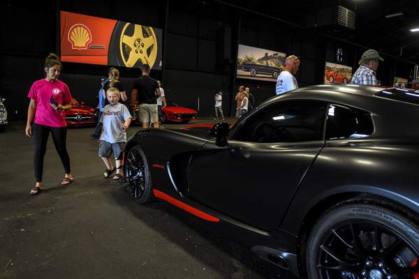 Mike Moore | The Journal Gazette A Dodge Viper up for auction Saturday at The Auburn Fall Auction.