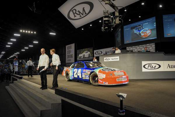 Jeff Gordon's 1994 Chevy Lumina NASCAR race car sold for $200,000 at the auction on Saturday.