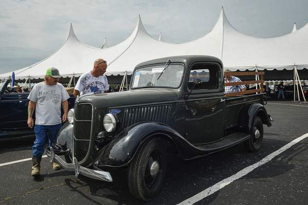 Mike Moore | The Journal Gazette A 1936 Ford Pickup for auction at the Auburn Fall Auction on Saturday.