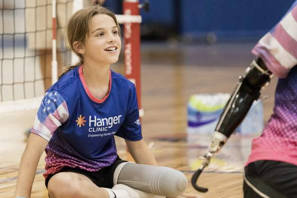 Courtesy Turnstone Cami Wood played sitting volleyball during the recent Endeavor Games at Turnstone.