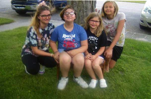 Courtesy Bonnie Patton  Jacelin Prindle, 14, Ella Prindle, 10, HadLeigh Prindle, 7, and Adysen Patton, 12, pose at Jacelin's birthday party June 13. Grandmother Bonnie Patton of New Haven says it was great to see all their faces this year since last year Jacelin's birthday party had to be done as a drive-by because of the pandemic. Patton has seven grandchildren.