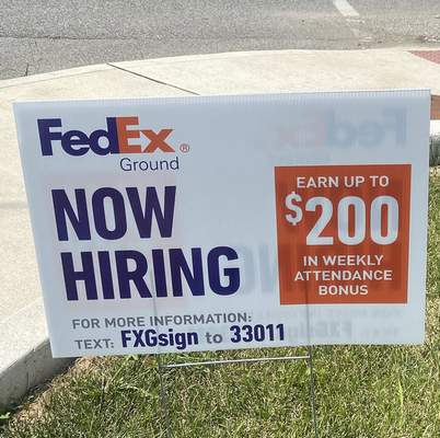 Lisa Green   The Journal Gazette  FedEx at northeast corner of intersection of Paulding Road and Lafayette Street. Aug. 18.