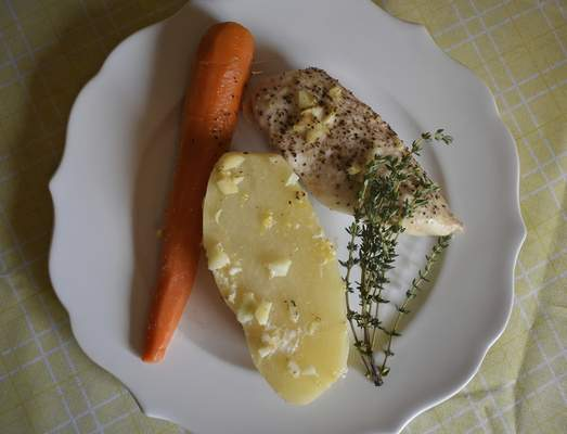 Corey McMaken | The Journal Gazette For your next one-pot dinner, try making Lemon and Garlic Potatoes with Chicken.