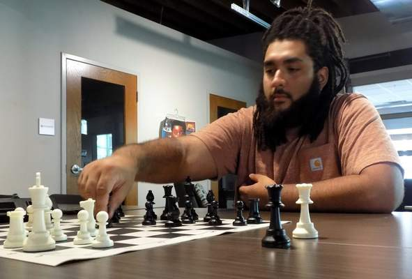 Blake Sebring | For The Journal Gazette After getting introduced to chess in July 2020, Eli Paulk has become obsessed with it, even founding the Fort Wayne Chess Club. The club will host a tournament Saturday at Shoaff Park Riverlodge.