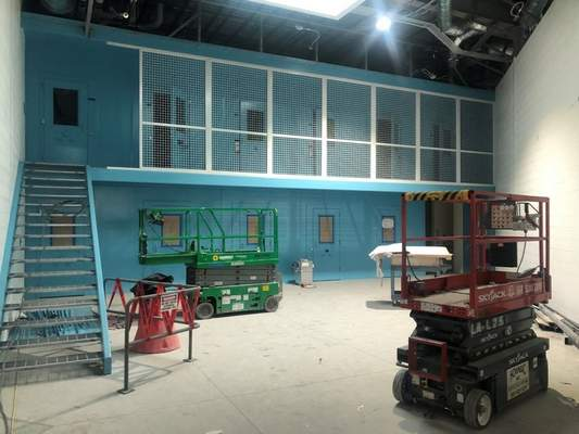 Courtesy Huntington County Sheriff's Department  The county's jail expansion features a pod system with a mezzanine, the trend in jail construction.