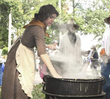 File No modern conveniences will be found at the Johnny Appleseed Festival, which tries to re-create the 1800s.