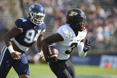 Purdue Connecticut Football Associated Press Wide receiver David Bell has 14 catches for 255 yards and three touchdowns for Purdue, which faces Notre Dame on Saturday. (Stew MilneFRE)