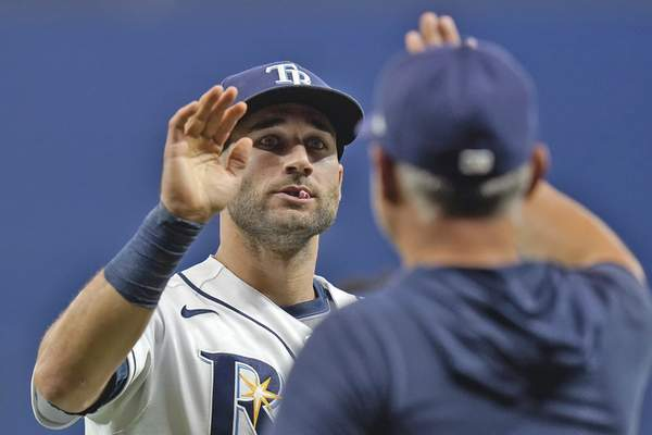 Associated Press Kevin Kiermaier has helped the Rays to the best record in the AL.