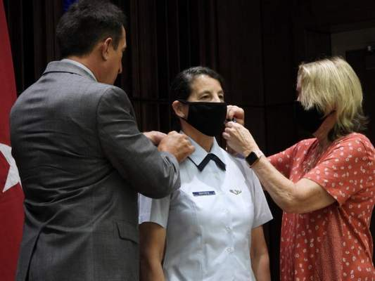 Photo By Lt. Col. Randi Bougere | Indiana Air National Guard Brig. Gen. Lisa Snyder receives her new one-star rank.