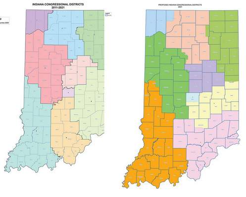 Courtesy: Indiana House Republicans.  Congressional Districts
