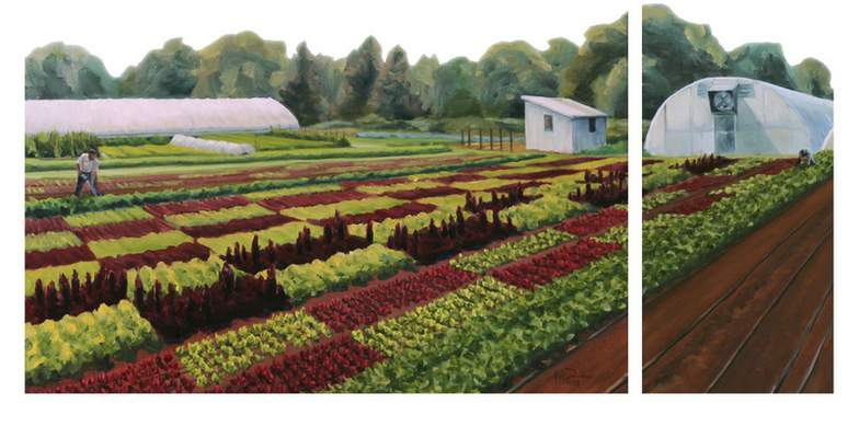 Jeff Diesburg will talk about his art of Indiana farms and farming for food Monday at Manchester University in North Manchester.