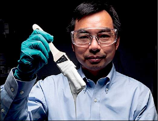 Purdue University photo Purdue professor Xiulin Ruan and his students now have Guinness book certification of their invention of the whitest paint on record.