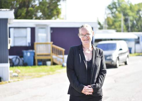 Katie Fyfe | The Journal Gazette Terra Johnson-Lee is onsite manager of Southern Court Mobile Home Park. Johnson-Lee has helped guide her tenants to the assistance that has helped them stave off eviction.