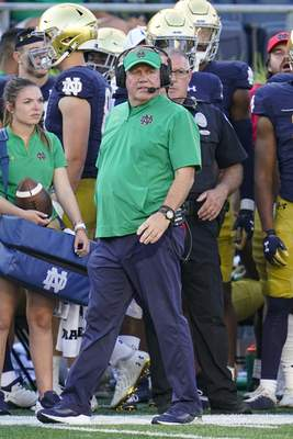 Associated Press Notre Dame coach Brian Kelly tied Knute Rockne on Saturday with 105 victories.