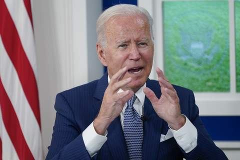Biden President Joe Biden speaks during a virtual COVID-19 summit during the 76th Session of the United Nations General Assembly, in the South Court Auditorium on the White House campus, Wednesday, Sept. 22, 2021, in Washington. (AP Photo/Evan Vucci) (Evan Vucci STF)