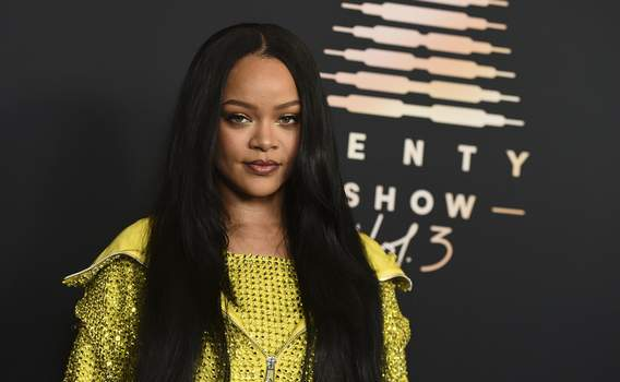 Savage X Fenty Event Musician and entrepreneur Rihanna attends an event for her lingerie line Savage X Fenty at the Westin Bonaventure Hotel in Los Angeles on on Aug. 28, 2021. (Photo by Jordan Strauss/Invision/AP) (Jordan Strauss INVL)