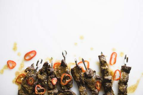 Food-MilkStreet-Curried Beef Skewers This image released by Milk Street shows a recipe for Curried Beef Skewers. (Milk Street via AP) (HONSX)