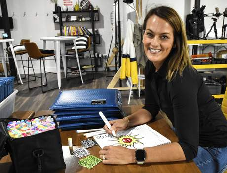 Michelle Davies   The Journal Gazette Angie Carel fine-tunes a sketch for her group, Simple Daily Drawing, an initiative that grew out of the pandemic and into a subscription-based company, offering daily drawing prompts and optional sketchbooks.