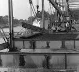 Sept. 6, 1972: Workers from Yost Construction Co. of Decatur work to dismantle the Anthony Boulevard bridge over the Maumee River. (Journal Gazette file photo)
