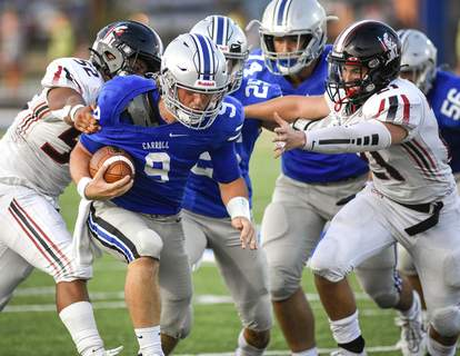 Mike Moore | The Journal Gazette Quarterback Jeff Becker and his Carroll teammates have won four straight games after falling in the season opener.